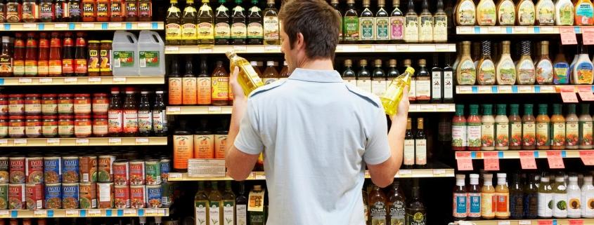 Olie schap supermarkt zonder een CDT